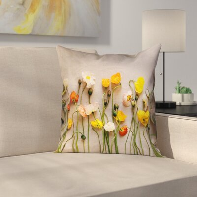 Tuyen Dried Flowers Double Sided Print Indoor Pillow Cover Size: 14 x 14