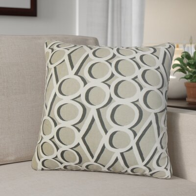 Cornita Geometric Cotton Throw Pillow Color: Gray