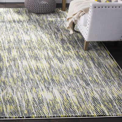 Coggin Gray/Green Area Rug Rug Size: Rectangle 8 x 10