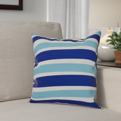 Hanukkah 2016 Decorative Holiday Striped Throw Pillow Size: 18 H x 18 W x 2 D, Color: Royal Blue