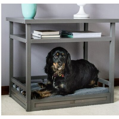Sundown Dog Bed with Nightstand and Cushion Color: Gray