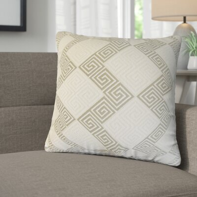 Mara Geometric Cotton Throw Pillow Color: Iron