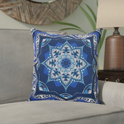Meetinghouse Shawl Geometric Outdoor Throw Pillow Size: 18 H x 18 W, Color: Navy Blue