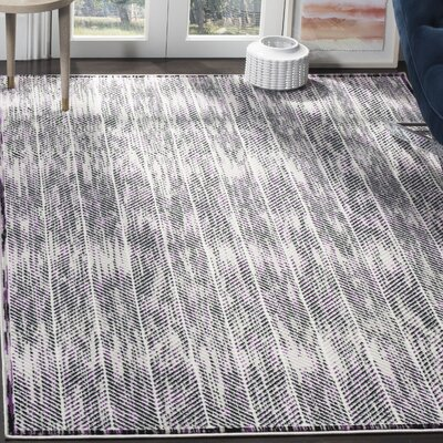 Coggin Gray/Purple Area Rug Rug Size: Rectangle 51 x 76