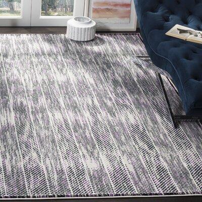 Coggin Gray/Purple Area Rug Rug Size: Rectangle 8 x 10