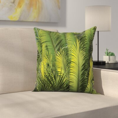 Tropical Palm Trees Exotic Square Pillow Cover Size: 20 x 20