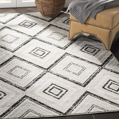 Coghill Gray Area Rug Rug Size: Rectangle 9 x 12