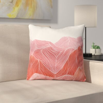Lines in the Mountains Throw Pillow Size: 26 x 26