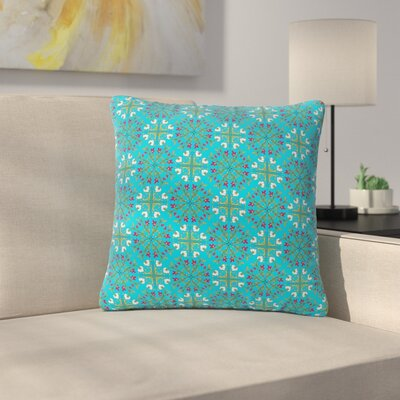 Mayacoa Studio Morrocan Tile in Geometric Floral Outdoor Throw Pillow Size: 18 H x 18 W x 5 D