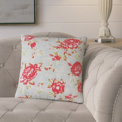 Ponce Floral Cotton Throw Pillow