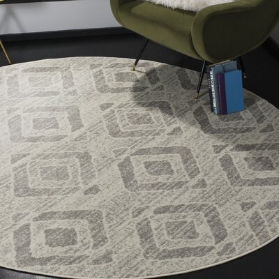 Cohan Ivory Area Rug Rug Size: Round 67