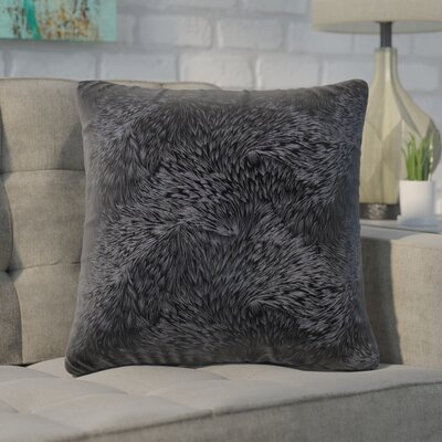 Cottrill Square Throw Pillow Color: Black