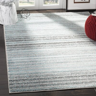 Cohn Blue/Gray Area Rug Rug Size: Rectangle 51 X 76