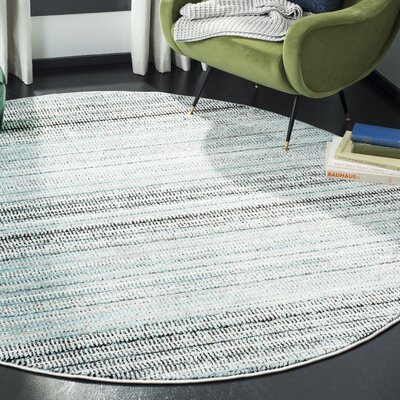 Cohn Blue/Gray Area Rug Rug Size: Round 67