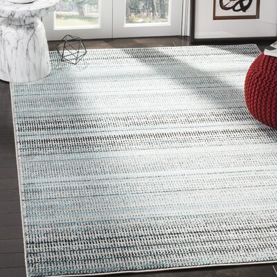 Cohn Blue/Gray Area Rug Rug Size: Rectangle 8 X 10