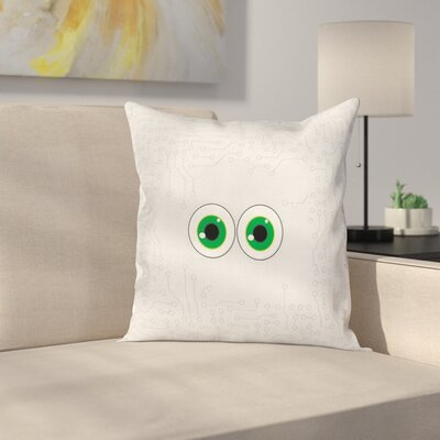 Eye Form Digital Picture Cushion Pillow Cover Size: 18 x 18