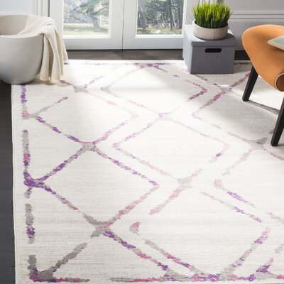 Cohrs Ivory Area Rug Rug Size: Rectangle 9 X 12