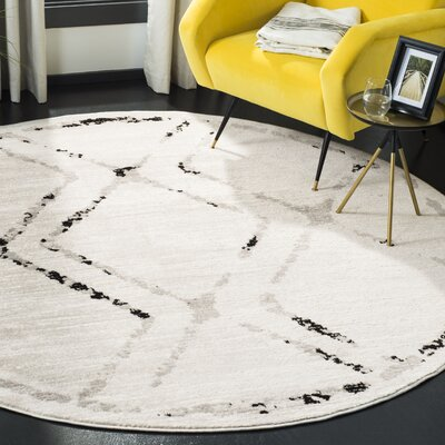 Cohrs Ivory Area Rug Rug Size: Round 67