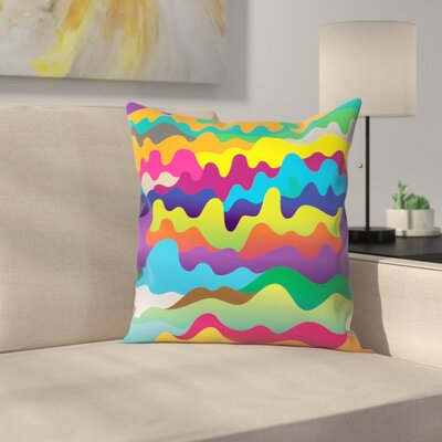 Joe Van Wetering Waves Throw Pillow Size: 16 x 16