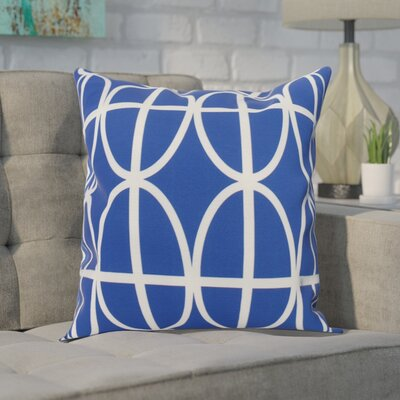 Crosswhite Ovals and Stripes Geometric Print Indoor/Outdoor Throw Pillow Color: Royal Blue, Size: 16 x 16