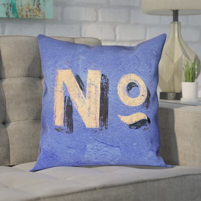 Enciso Square Graphic Wall Pillow Cover Size: 16 x 16, Color: Blue/Beige
