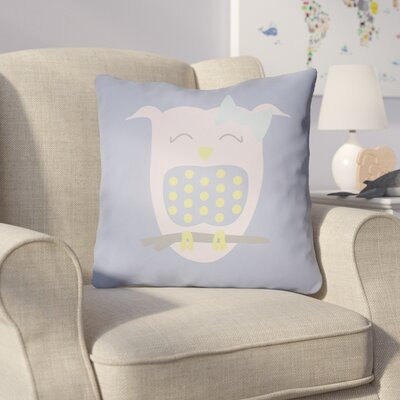 Colinda Owl Throw Pillow Size: 20 H x 20 W x 4 D, Color: Light Blue