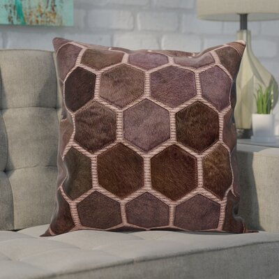Ince Leather Throw Pillow Color: Lilac