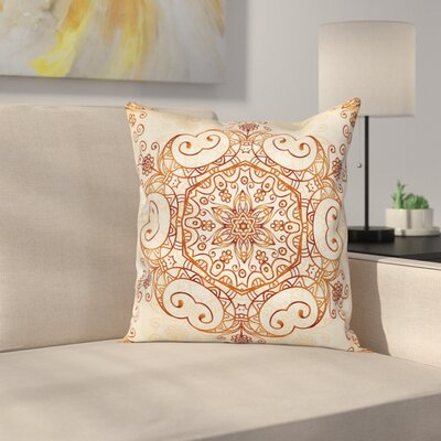 Abstract Damask Motif Cushion Pillow Cover Size: 24 x 24