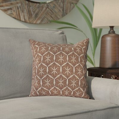 Arlo Tufted Geometric Outdoor Throw Pillow Size: 16 H x 16 W, Color: Maroon