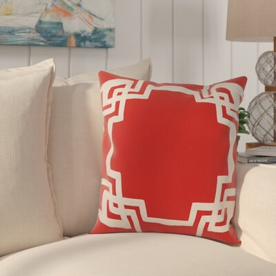 Evrychou Throw Pillow Cover Color: Coral