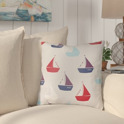 Geddes Indoor/Outdoor Throw Pillow Size: 20 H x 20 W x 3.5 D, Color: White