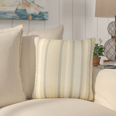 Yeji Striped Cotton Throw Pillow Color: Dune
