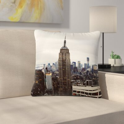 New York Stories Urban Travel Outdoor Throw Pillow Size: 16 H x 16 W x 5 D