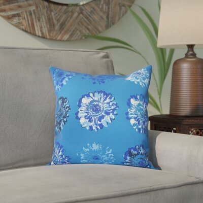 Willa Gypsy Floral 2 Print Throw Pillow Size: 16 H x 16 W, Color: Blue