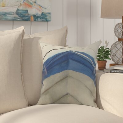 Crider Boat Bow Center Print Indoor/Outdoor Throw Pillow Color: Taupe, Size: 18 x 18