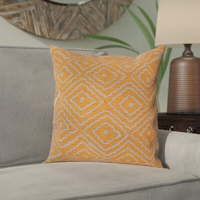 Sala 100% Linen Throw Pillow Cover Size: 18 H x 18 W x 1 D, Color: OrangeBrown