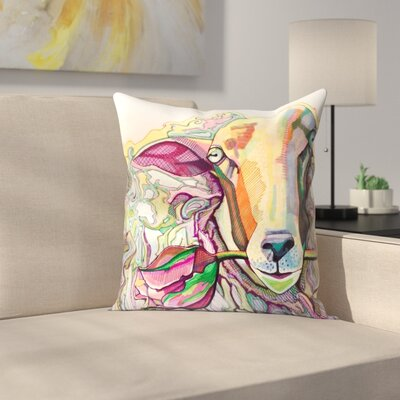 Easter Lamb Throw Pillow Size: 18 x 18