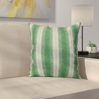 Navarro Lines Throw Pillow Size: 26 H x 26 W, Color: Green