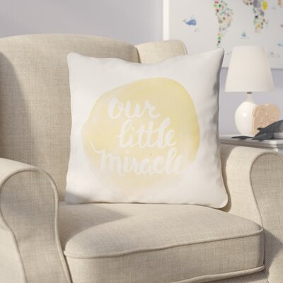 Gianna Indoor/Outdoor Throw Pillow Size: 20 H x 20 W x 4 D, Color: Yellow