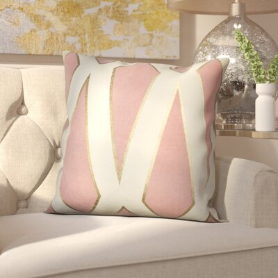 Farrell Throw Pillow Color: Pink