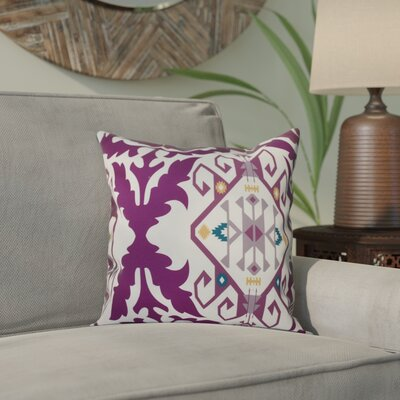 Oliver Bombay Medallion Geometric Print Throw Pillow Size: 18 H x 18 W, Color: Purple