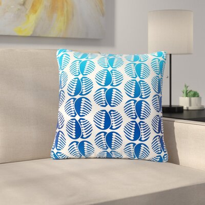 Dan Sekanwagi Poddy Combs Pattern Outdoor Throw Pillow Size: 16 H x 16 W x 5 D