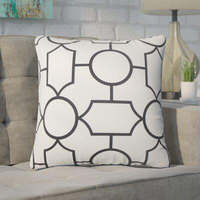 Syrianus Geometric Cotton Throw Pillow Color: Gray/Black