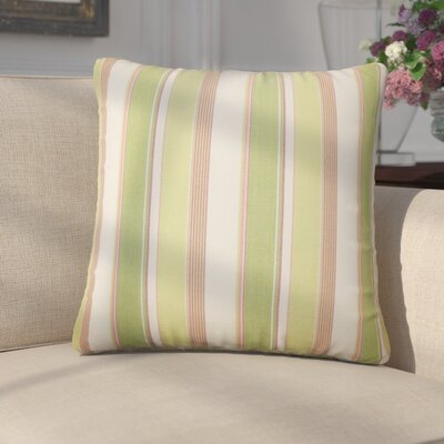 Enok Striped Cotton Throw Pillow Color: Kiwi Pink