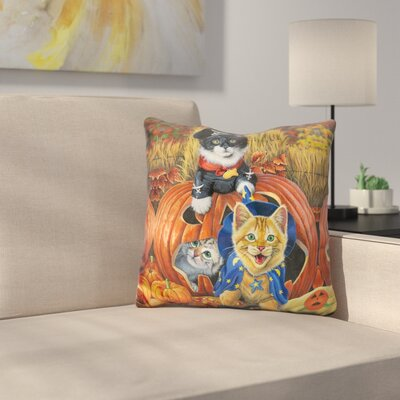 Halloween Kittens Throw Pillow