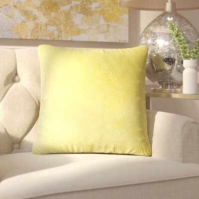 Chesterwood Solid Down Filled Throw Pillow Size: 22 x 22, Color: Citron