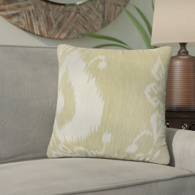 Gaiser Ikat Cotton Throw Pillow Color: Jute