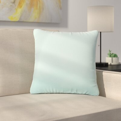Kaley Solid Indoor/Outdoor Throw Pillow Size: 18 H x 18 W x 6 D, Color: Light Blue
