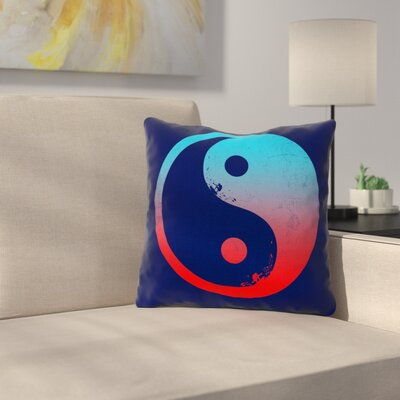 Ying Yang Surfers by Frederic Levy-Hadida Throw Pillow Size: 16 H x 16 W x 3 D