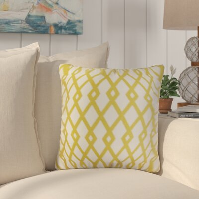 Arbutus Geometric Cotton Throw Pillow Color: Yellow